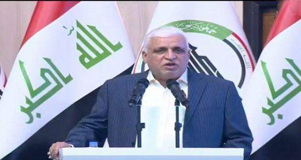 """الفياض: الحشد ايقونة النصر وردة فعل الأمة العراقية ضد """"داعش"""""""
