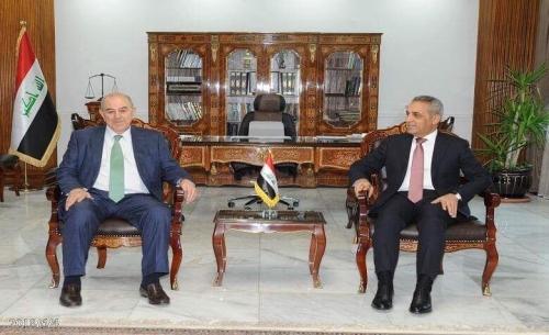 زيدان وعلاوي يبحثان إجراءات القضاء في حسم الطعون الانتخابية