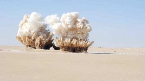 تفجير 64 عبوة ناسفة شرق الانبار