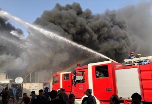 حقوق الانسان تدعو لتحقيق عاجل والقصاص من المتسببين بحريق المفوضية