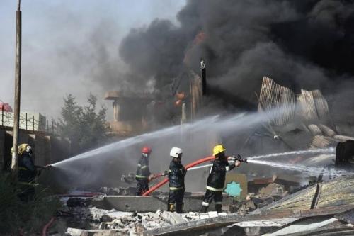 الامن النيابية: حريق المفوضية كان متعمداً وتم بفعل فاعل