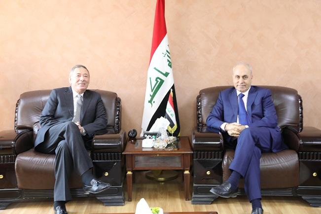 الجميلي يبحث مع السفير الاردني تعزيز العلاقات الثنائية بين البلدين