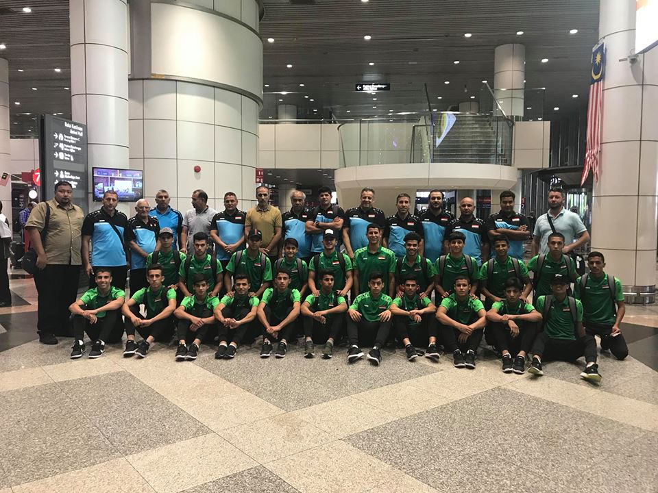 وفد الناشئين يصل ماليزيا للمشاركة في نهائيات كاس آسيا