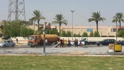 الاستعداد لإفتتاح ساحة جديدة بمشروع {ألق بغداد}