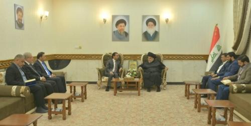 رئاسة مجلس النواب تلتقي السيد مقتدى الصدر في النجف الأشرف