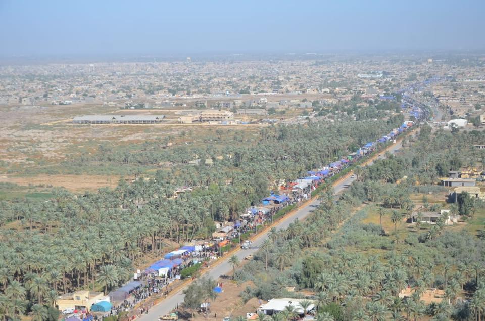طيران الجيش يؤمن طريق بغداد كربلاء لزوار الأربعين