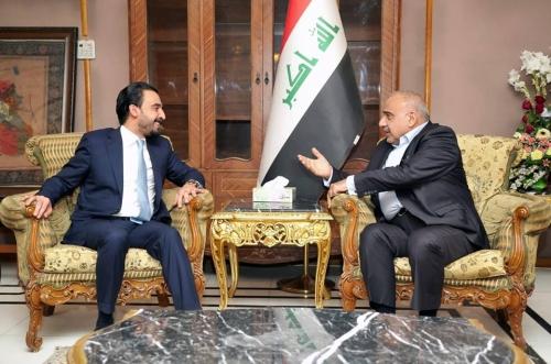 عبد المهدي والحلبوسي يلتقيان للمرة الثانية ويبحثان تشكيل الحكومة