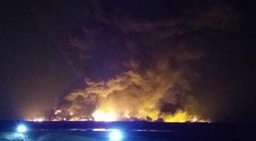 شركة نفط ميسان توضح الحريق في حقل البازركان
