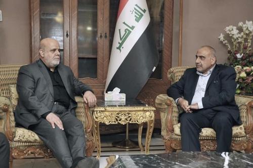 السفير الإيراني يؤكد لعبد المهدي استمرار دعم بلاده للعراق
