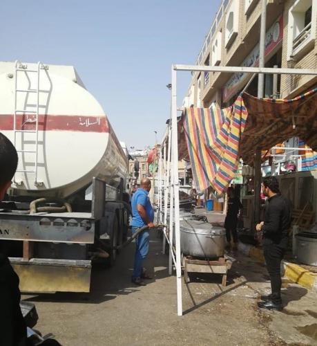 المنتجات النفطية تخصص مشتقات مختلفة للمواكب الحسينية