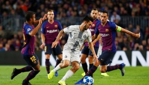 برشلونة يستعد للكلاسيكو بثنائية في شباك إنتر ميلان