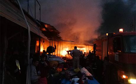 حريق يلتهم أكبر أسواق أربيل