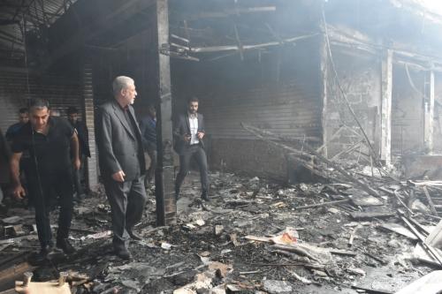 بعد حريق اللنكة بأربيل الحداد يدعو لأعادة العمل بنظام شركات التأمين