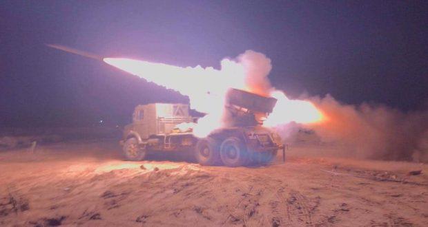 القوة الصاروخية للحشد تحبط محاولة تسلل لداعش على الحدود وتعالج اهدافا لهم داخل العمق السوري