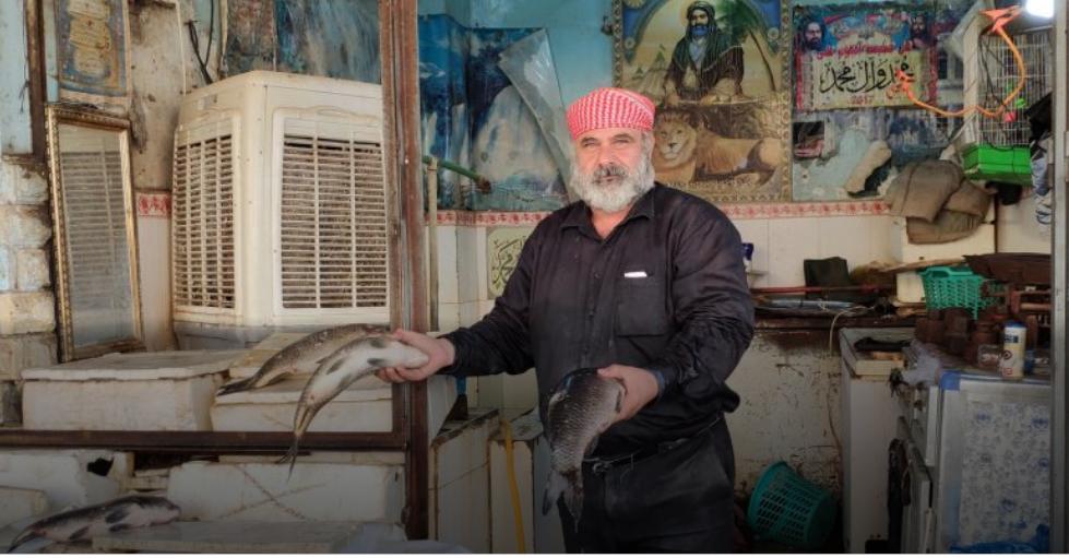 بائعو الاسماك في العراق يبدون مخاوفهم من مصير مهنتهم