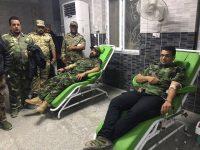 اللواء الثاني في الحشد ينظم حملة للتبرع بالدم للجرحى
