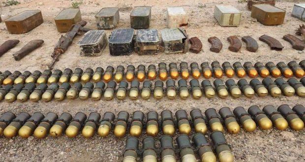 الحشد الشعبي يضبط مخزن اسلحة لداعش شرق الانبار