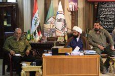 الحشد الشعبي/ اللواء 2 يعقد إجتماعا موسعا لبحث الخطط الامنية والوقوف على جاهزية قواته