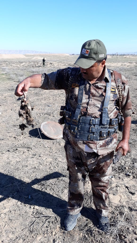 العثور على بقايا أشلاء دواعش قضوا بقصف في بيجي