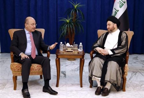 السيد عمار الحكيم وصالح يؤكدان ضرورة إبعاد العراق عن سياسة المحاور