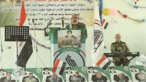 """اللواء 22 يقيم احتفالا بمناسبة الذكرى السنوية الاولى لإعلان النصر على """"داعش"""""""