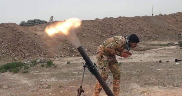 اللواء 313 في الحشد يدمر مضافات لداعش شرق الأنبار