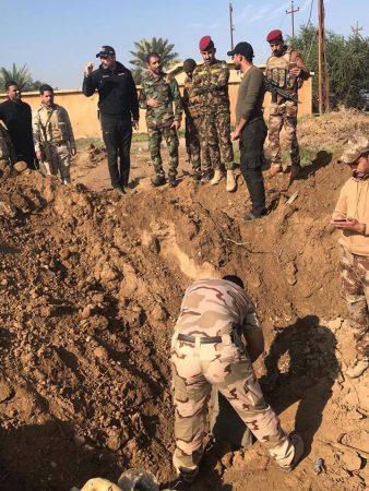الحشد والجيش يفككان 18 عبوة ناسفة بعملية تفتيش ومسح في قضاء بيجي