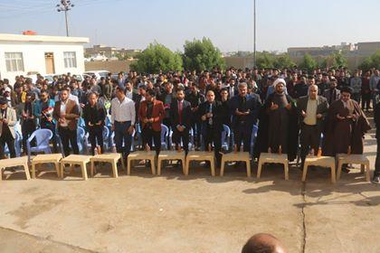 مكتب ميسان يشارك جامعة الإمام جعفر الصادق (ع) احتفالها بذكرى النصر