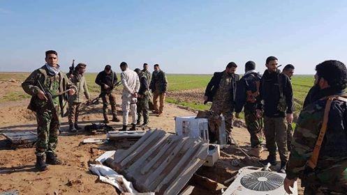 """الحشد الشعبي يدمر مضافات لـ""""داعش"""" جنوب غربي كركوك"""
