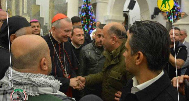 رئيس وزراء الفاتيكان يبارك من برطلة انتصارات الحشد الشعبي والقوات الأمنية