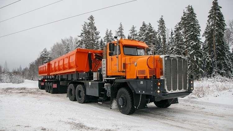 روسيا تطلق شاحنة عملاقة جديدة