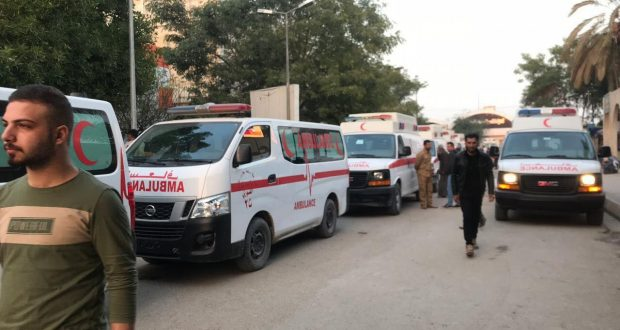 طبابة الحشد تخلي الراقدين في مستشفى الكاظمية إثر حريق بأحد صالاته
