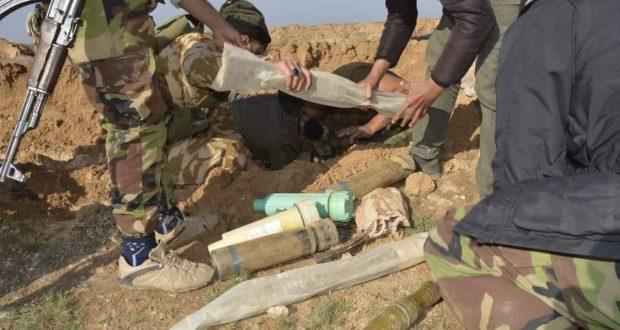 بعملية أمنية الحشد الشعبي يعثر على مخزن للأسلحة في منطقة آلبو جروب في سامراء