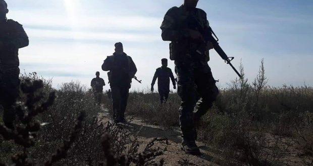 اللواء 313 في قاطع عمليات سامراء ينفذ عملية دهم ومسح لثلاث مناطق غربي المدينة