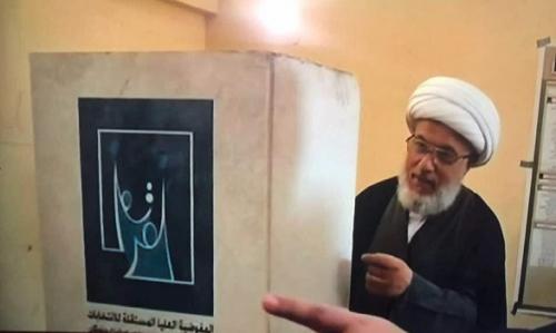 وفد من المفوضية يشرح للشيخ الكربلائي إدارة الانتخابات