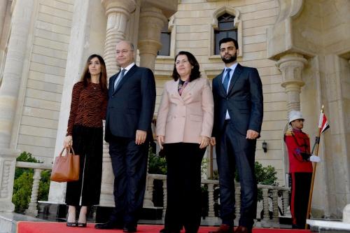 صالح يستقبل الأيزيدية مراد الفائزة بجائزة نوبل للسلام