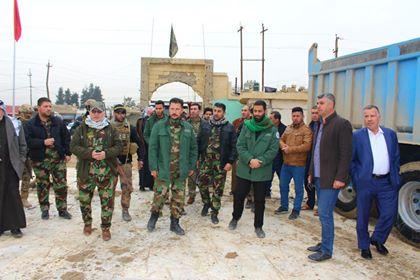 الحشد الشعبي يشارك في إعادة تأهيل أحد المزارات الدينية في نينوى