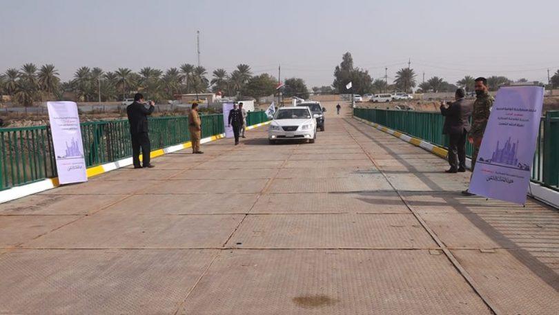 الجهد الهندسي للحشد الشعبي يفتتح جسر الكرغولية بمنطقة جسر ديالى