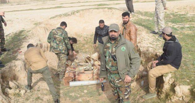بعملية مسح ميداني.. الحشد يعثر على كدس عتاد في القيروان غرب الموصل