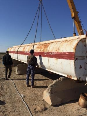 ضبط كميات ضخمة من النفط الخام في الانبار واعتقال متهم