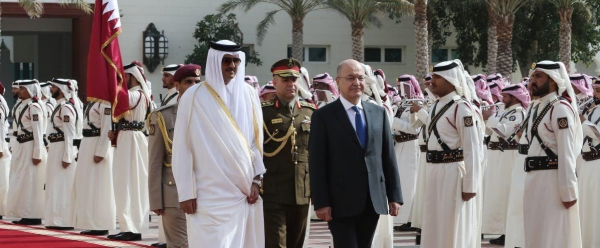 رئيس الجمهورية يلتقي أمير قطر