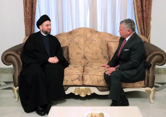 السيد عمار الحكيم لملك الأردن: العراق غادر مرحلة الإصطفاف الطائفي