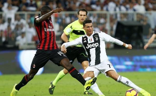 رونالدو يمنح كأس السوبر ليوفنتوس على حساب ميلان