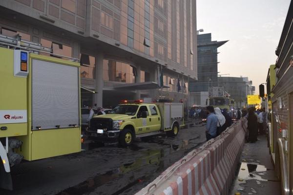 حريق في فندق بالرياض ووقوع إصابات