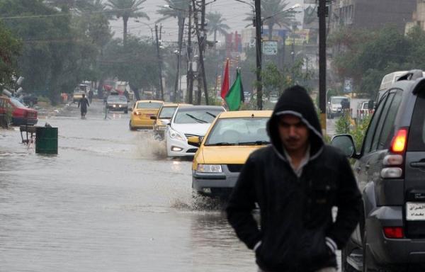 طقس اليوم إستمرار الأمطار بهذه المدن العراقية وكتلة هوائية باردة