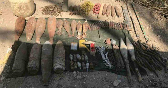 القبض على مطلوبين والعثور على متفجرات في مناطق متفرقة من الانبار