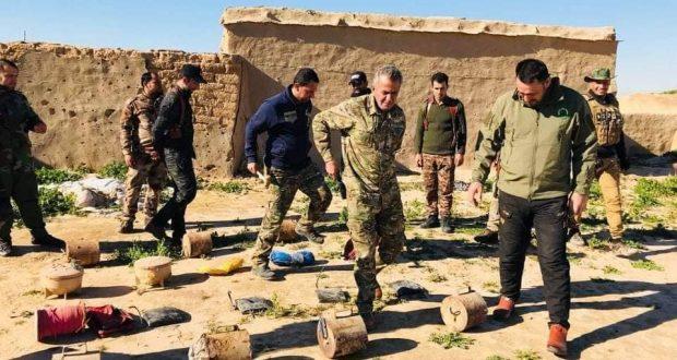 الحشد يعثر على عبوات قمعية ومضادة للدروع واحزمة ناسفة جنوب الموصل