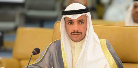 وصول رئيس مجلس الامة الكويتي الى العاصمة بغداد
