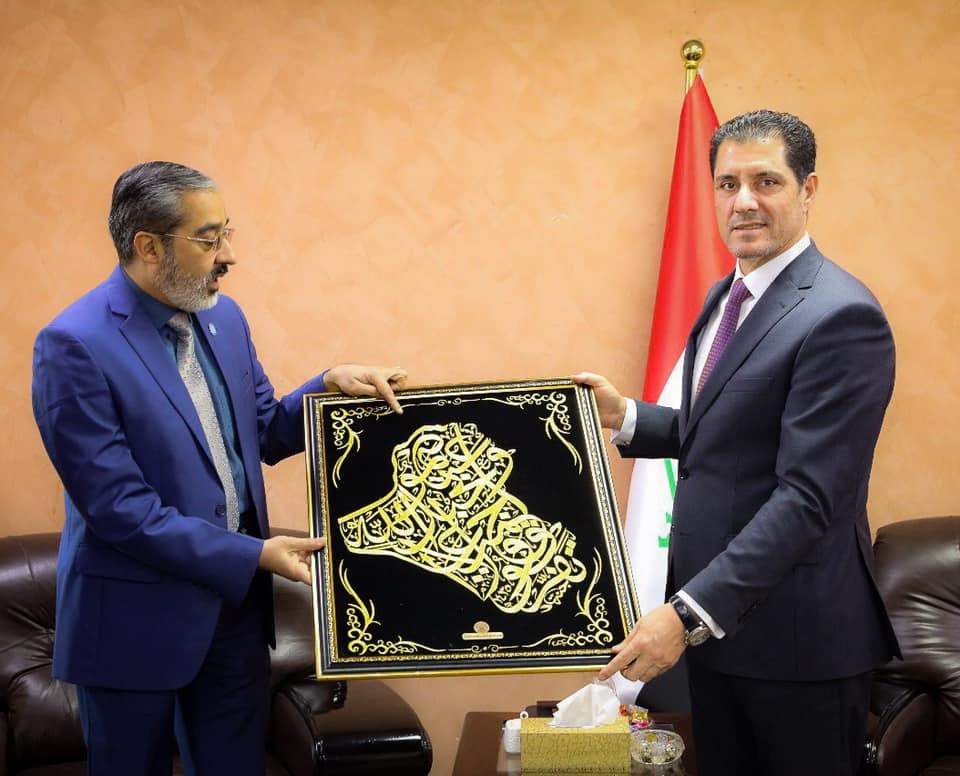 وزير التخطيط العراقي يبحث ملف السياحة الدينية مع  العتبة العلوية المقدسة