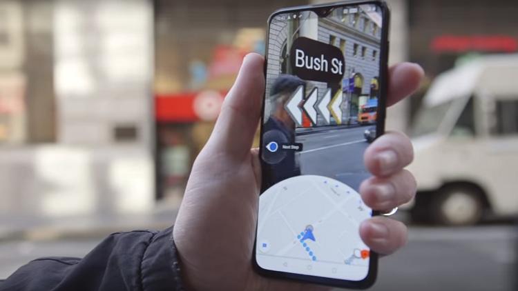 """""""غوغل"""" تختبر تقنيات الواقع المعزز في خرائطها"""